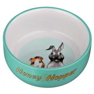 Миска для грызунов Trixie Honey & Hopper, 250 мл, размер 11см., цвета в ассортименте