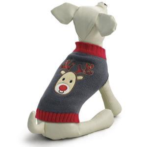 Свитер для собак Triol Оленёнок XXL, размер 45см., серый