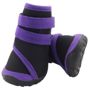 Ботинки для собак Triol YXS136-S S, размер 5.5х5х6.5см., черный / фиолетовый