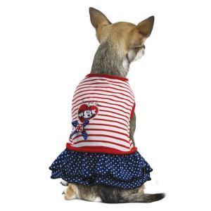 Платье для собак Triol Minnie Smart M M, размер 30см., белый в красную полоску