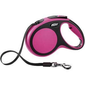 Поводок-рулетка для собак Flexi New Comfort М М, черный/розовый