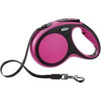 Фотография товара Поводок-рулетка для собак Flexi New Comfort М, размер М, 360 г, черный/розовый