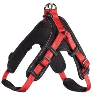 Шлейка для собак Hunter Neopren M, красный/черный