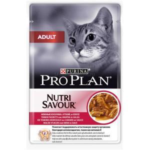 Корм для кошек Pro Plan Adult, 85 г, утка