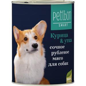 Корм для собак Четвероногий гурман Petibon Smart, 410 г, курица с уткой