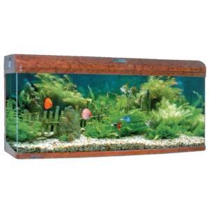 Аквариум для рыб Jebo 3126R, 289 л, размер 128.6х50х70.5см., темное дерево