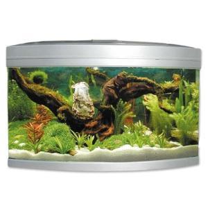Аквариум для рыб Jebo 470R, 186 л, размер 65х65х70см., серебро
