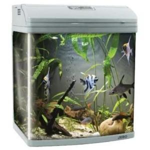 Аквариум для рыб Jebo 352R, 67 л, размер 51х34х50см., серебро
