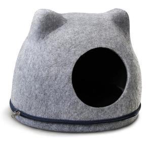 Домик для кошек Triol Кошкин Дом, размер 34х43х34см., серый