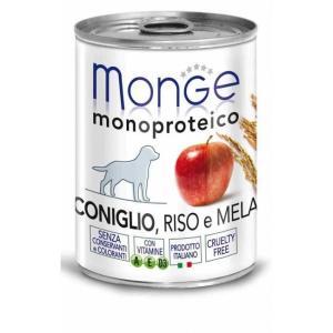 Корм для собак Monge Monoproteico Fruits, 400 г, кролик с рисом и яблоками