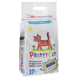 Наполнитель для кошачьего туалета Pretty Cat Wood Granules, 4 кг
