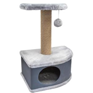 Домик-когтеточка для кошек Yami-Yami Конфетти, размер 49х37х70см., серый