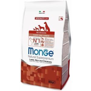 Корм для щенков Monge Dog Puppy and Junior, 800 г, ягненок с рисом