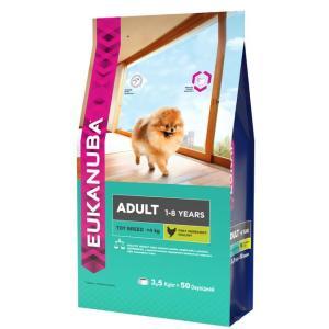 Корм для собак Eukanuba Adult Toy Breed, 3.5 кг, курица и индейка