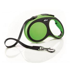 Поводок-рулетка для собак Flexi New Comfort L, зеленый