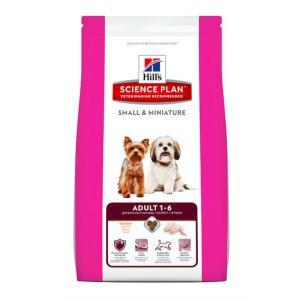 Корм для собак мелких пород Hill's SP Adult Small&Miniature, 3 кг, курица и индейка