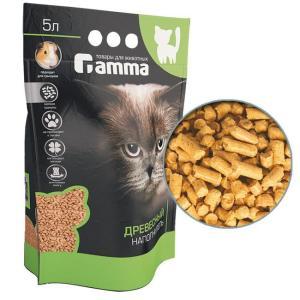 Наполнитель для кошачьего туалета Гамма Мелкие гранулы, 3 кг, 5 л
