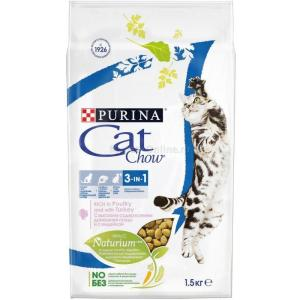 Корм для кошек Purina Cat Chow Feline 3 in 1, 1.5 кг, индейка