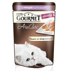 Корм для кошек Gourmet A la Carte , 85 г, Птица с Баклажаном, Цукини и Томатами