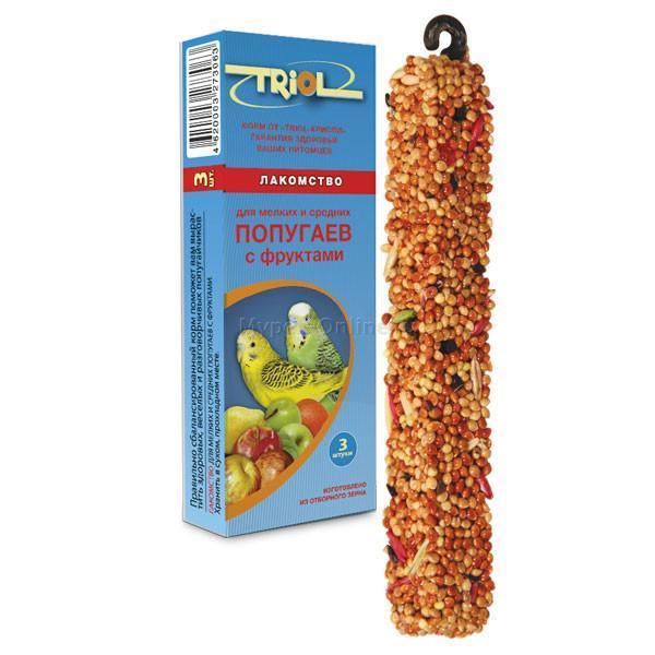 Лакомство для попугаев Triol, с фруктами, 1 - Интернет зоомагазин MyPet-Online.ru