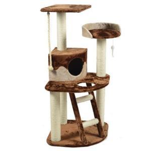 Игровой комплекс для кошек Triol TM07, размер 55x55x120см., коричневый/бежевый