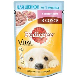 Корм для щенков Pedigree Vital Protection, 85 г, ягненок