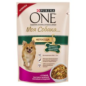 Корм для собак Purina One Моя Собака... Непоседа, 100 г, утка с пастой и фасолью
