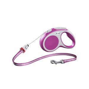 Поводок-рулетка для собак Flexi Vario Cord S, розовый