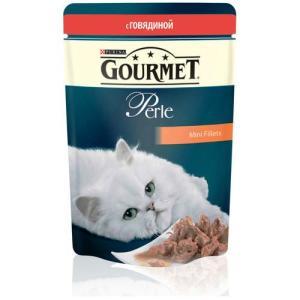 Корм для кошек Gourmet Perle, 85 г, говядина