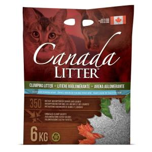 Наполнитель для кошачьего туалета Canada Litter Запах на замке, 6 кг