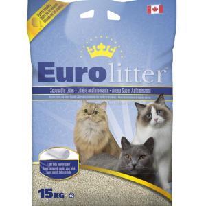 Наполнитель для кошачьего туалета Canada Litter Eurolitter Dust Free, 15 кг