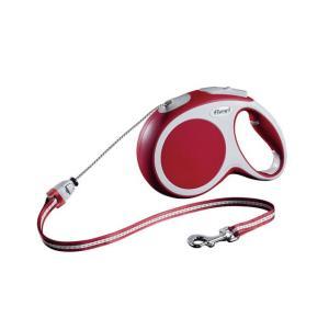Поводок-рулетка для собак Flexi Vario Cord M, красный