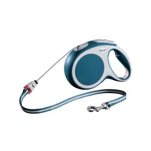 Поводок-рулетка для собак Flexi Vario Cord M, синий
