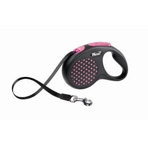 Поводок-рулетка для собак Flexi Design Classic, розовый