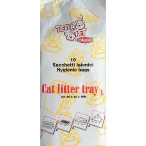 Пакеты для кошачьих туалетов Stefanplast Peter Pet, размер 40x30x10см.