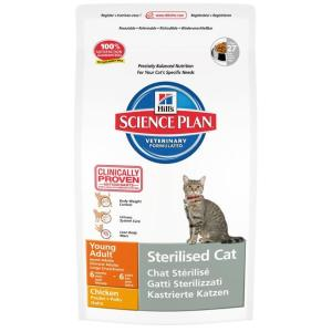 Сухой корм для стерилизованных кошек Hill's SP Young Adult Sterilised, 8 кг, курица