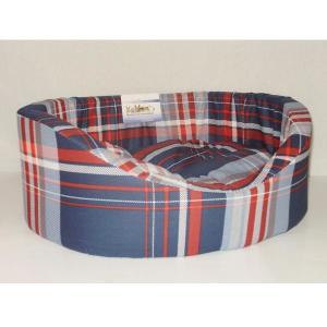 Лежак для собак Бобровый дворик Овальный с бортиком 6, размер 6, размер 84х57х20см., цвета в ассортименте