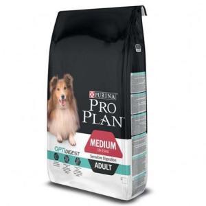 Корм для собак Pro Plan Adult Medium Sensitive Digestion, 14 кг, ягненок с рисом