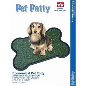 Туалет с травкой для собак и щенков Pet Potty Bone Shape, размер 68х43х3см.