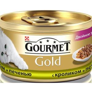 Корм для кошек Gourmet Gold, 85 г, кролик и печень