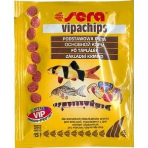 Корм для донных рыб и ракообразных Sera Vipachips, 15 г