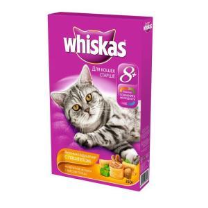 Сухой корм для кошек Whiskas Вкусные подушечки, 350 г, птица