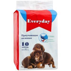 Приучающие пеленки для собак EveryDay, размер 60х90см., 10 шт.