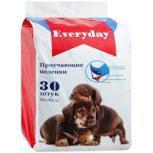 Приучающие пеленки для собак EveryDay, размер 60х90см., 30 шт.