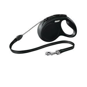 Поводок рулетка Flexi New Classic Cord M, черный