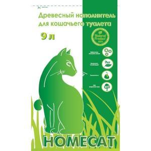 Наполнитель для кошачьего туалета Homecat, 3 кг, 9 л, 100% древесина хвойных пород