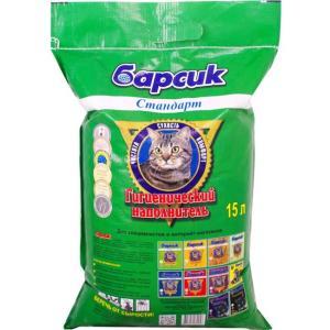 Наполнитель для кошачьего туалета Барсик Стандарт, 10 кг, 15 л