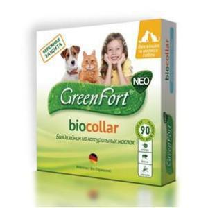Ошейник от блох и клещей для собак и кошек Green Fort