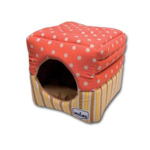 Домик для кошек Katsu Muleo, размер 30х30х16см., оранжевый