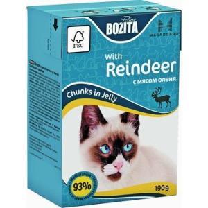Корм для кошек Bozita Mini кусочки в желе с Мясом Оленя, 190 г, олень